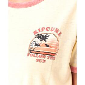 Rip Curl Surf Revival Ringer SS Shirt Women yellow